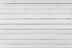 White wooden wall, flat photo texture Stock Images