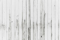White wooden wall, grungy paint, background texture Stock Photos