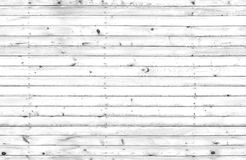 White wooden wall, seamless texture Stock Photography