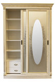White wooden wardrobe. Isolated on a white Royalty Free Stock Images