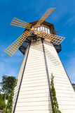 White wooden windmill Royalty Free Stock Photos
