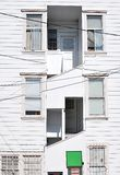 White wooden windows Stock Photography