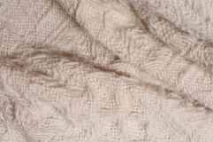White wool blanket. For background Stock Photos