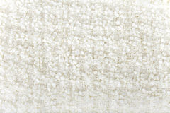 White  wool  boucle texture Royalty Free Stock Image