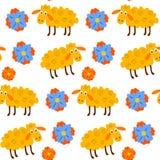 White wool knit seamless pattern Stock Image