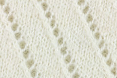 White wool knitted fabric texture background Stock Images