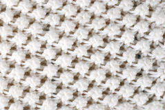 White wool knitted texture Stock Images