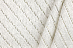 White woolen knitted fabric texture background Stock Image