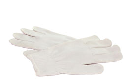 White working gloves isolated Stock Photo