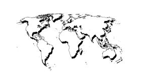 White world. Highly detailed map of the world Royalty Free Illustration