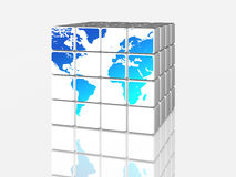 White world in cubes Royalty Free Stock Photography