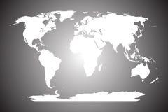 White world map Royalty Free Stock Photos