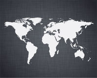 White world map. Stock Photo