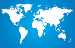 White world map Royalty Free Stock Photos