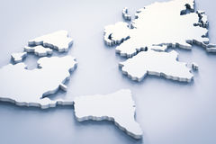 White world map. 3d rendering white world map Stock Images