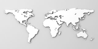 White world map. On grey background vector illustration