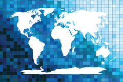 White worldmap on mosaic Royalty Free Stock Photography