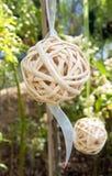 White woven ball Stock Photography
