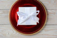 White Wrapped Present Stock Images