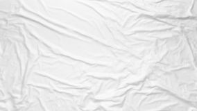 Free White Wrinkled Fabric Texture. Paste Poster Template. Glued Paper Or Fabric Mockup Stock Image - 158077021