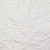 White wrinkled paper background texture Stock Photography