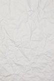 White wrinkled paper background texture Royalty Free Stock Image