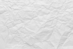 White Wrinkled Paper Royalty Free Stock Photos