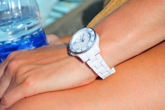 White wristwatch Royalty Free Stock Photo