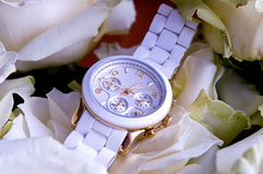 White wristwatch Royalty Free Stock Photos