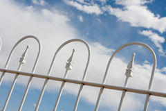 White Wrought Iron Fence Royalty Free Stock Image