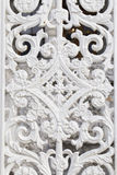 White wrought metal pattern, historical Ottoman garden gate motifs Stock Images