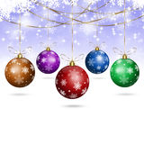 White Xmas Holiday Balls Stock Image