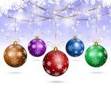 White Xmas Holiday Balls Stock Image