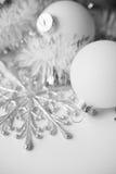 White xmas ornaments Stock Photos