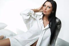 White XXL Shirt Stock Photo