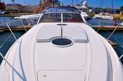 White yacht Stock Photography