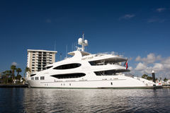 White yacht stock photography