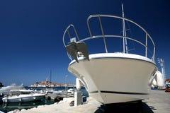 White yacht bow Royalty Free Stock Photos