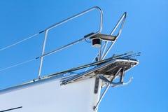 White yacht bow fragment Royalty Free Stock Photos