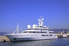 A white yacht in Cannes Royalty Free Stock Images