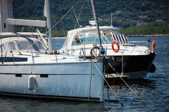 White yacht Royalty Free Stock Images