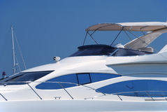 The white yacht is moored Stock Images