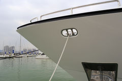 White yacht prow Stock Image