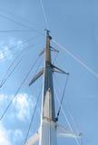 White yacht sails Stock Image