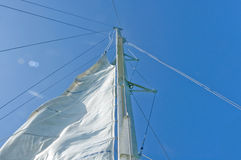 White yacht sails Stock Photography