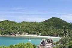 White yacht samui island crystal bay beach Stock Photos