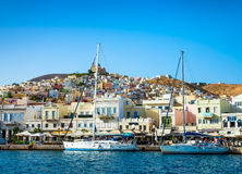 White yachts in the bay of Athens Stock Photography