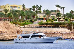 White yachts in Red sea Royalty Free Stock Photography
