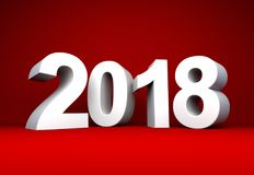 White year 2018 text Stock Photo