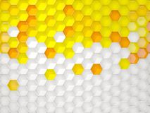White and yellow background with hexagon pattern Stock Photos